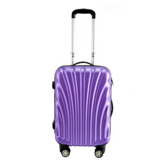Harga Case Valker ABS Hard Case Shell Curve Shape Luggage Purple