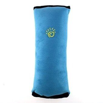 Harga Car Safety Seat Belt Shoulder Cover Cushion Pillow-Blue