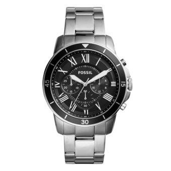 Harga Fossil Watch Grant Chronograph Silver Stainless-Steel Case Stainless-Steel Bracelet Mens NWT + Warranty FS5236