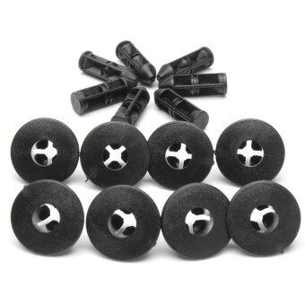 Harga 20 PCS Black Plastic Rivets Trim Clips 8mm For Suzuki Bumpers Sills Trim Panel Clip