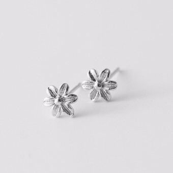 Harga FANCICO Flower Styling Lady Sterling Silver Stud Earrings