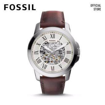 Harga FOSSIL GRANT AUTOMATIC MECHANICAL DARK BROWN LEATHER WATCH
