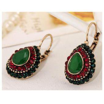 Harga LoveU Woman Retro Fashion Personalized Jewelry Bohemian National Wind Earrings