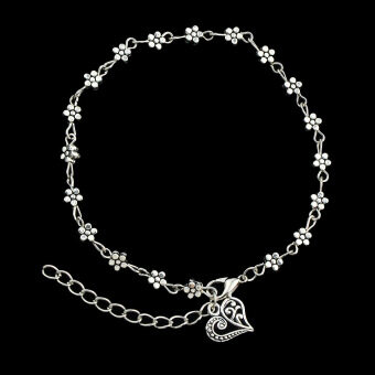 Harga Qingdao big european and american popular trade jewelry jewelry korean version of the simple silver flower anklets