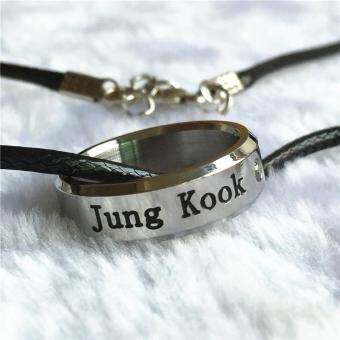 Harga BTS Bangtan Boys Wings Album JUNGKOOK Rope Ring Accessories KPOP Jewelry Rings With Lanyard