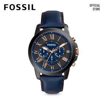 Harga FOSSIL GRANT CHRONO BLUE LEATHER WATCH