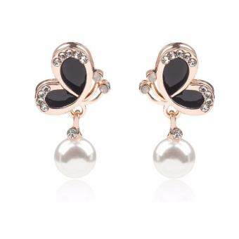 Harga FANCICO New Fashion Bow Knot Pearl Stud Chic Stud Earring