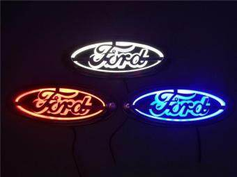 Harga 5D LED Car Decal Tail Logo Light Badge Lamp Emblem Sticker for Ford (blue) Ford FOCUS, MONDEO, KUGA