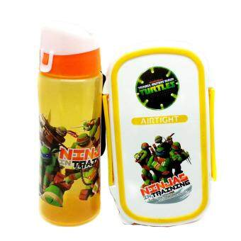 Harga NINJA TURTLES AIRTIGHT LUNCH BOX WITH WATER BOTTLE