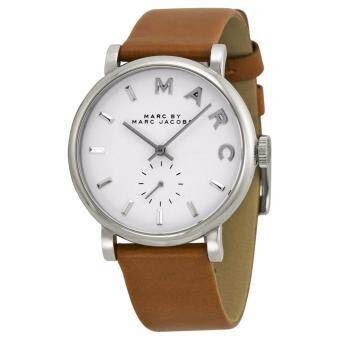Harga Marc by Marc Jacobs mbm1265 Baker White Dial Leather Ladies Watch