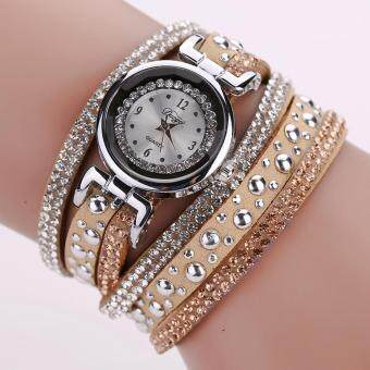 Harga New Duoya Top Brand Fashion Luxury Rhinestone Bracelet Watch Women Quartz Watch Ladies Casual Women Vintage Casual Wristwatch