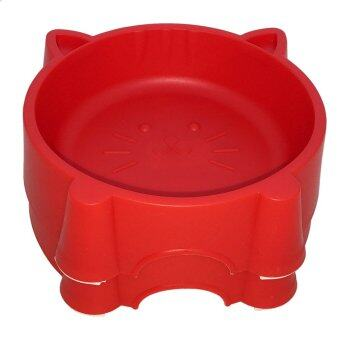 Harga MOO MOO Cute Pet Bowl (Red)