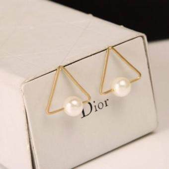 Harga FANCICO Geometric triangular white pearl earrings jewelry
