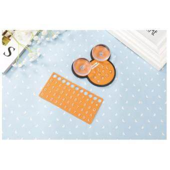 Harga Mickey Temporary Car Parking Card Telephone Number Card Sucker Plate Car Styling Phone Number Card - PINK