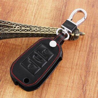 Harga Leather folding Car Key Cover Case for For Peugeot 307 407 308 508 5008 607 Citroen C1 C2 C3 C4 C5 C6 C8 3 Buttons Black)