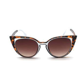 Harga New fashion trend sunglasses cat's eye personality color film big sunglasses anti-ultraviolet sunglasses