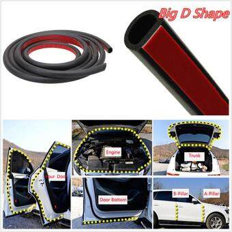 Harga Ishowmall 8M Big D-Shape Moulding Black Trim Rubber Strip Car Door Edge Seal Weather-strip