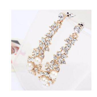 Harga FANCICO Korean style-shine-temperament-pearl-tassel-drop earrings