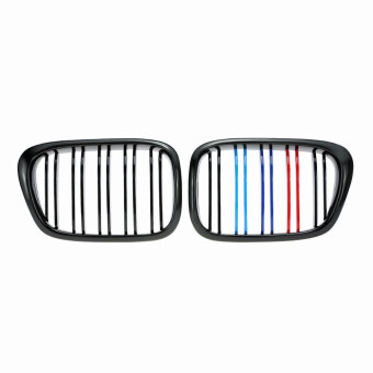 Harga One Pair Front Center Kidney Grilles Gloss Black Mixed Color Grill for BMW E39 518 520 523 525 528 530 1999-2003