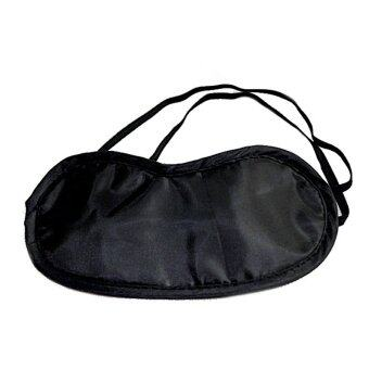 Harga Black Eye Mask Shade Nap Cover Blindfold Mask for Sleeping Travel Soft Polyester Mask