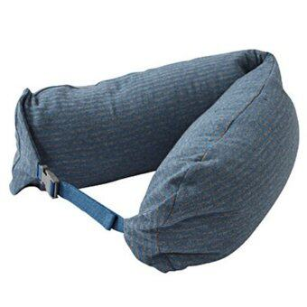 Harga (MUJI) Well fitted Neck Cushion (Gray Blue)