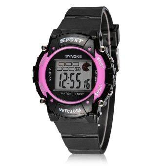 Harga Synoke Camouflage Color Water-Proof Led Light Electronic Watch-Pink
