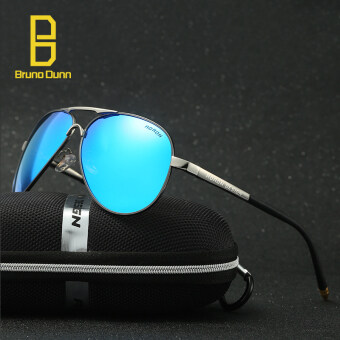 Harga aviator men sunglasses polarized male driving fishing sun glasses for men 8503(gun frame blue lense)