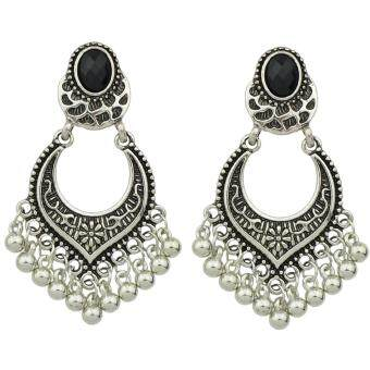 Harga Joywish Tibetan Design Metal Beads Big Chandelier Earrings
