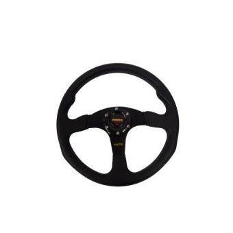 Harga MOMO 14inches PU Sport Steering Wheel for Universal Car Racing Wheel- Black