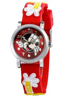 Harga Disney Mickey Mouse Red Rubber Strap Watch MSFR240-06A