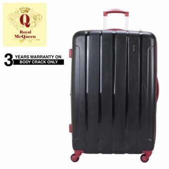 Harga Royal McQueen QTH 6907 Polypropylene 4 WheelsSpinnner 20 Hard Case Luggage Black""