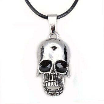 Harga Movable Skull Jaw Pendant Necklace Boy Girl Jewelry Titanium Steel Cool