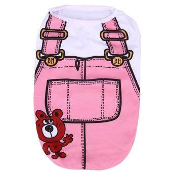 Harga Puppy Dog Vest Shirts Hoodies 26*36*25cm S (Pink)