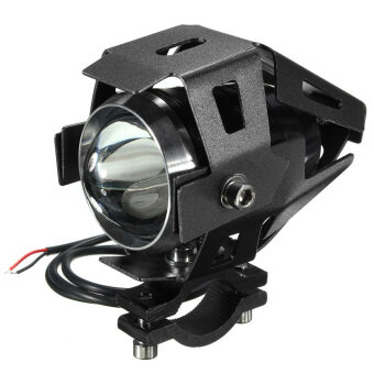 Harga Motors Accessories U5 Motorcycle Light Driving Fog Spotlight + Switch+ Accessories