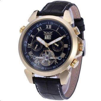 Harga Jargar Automatic Mechanical Movement with Black Leather Strap Gift Box JAG922TG06 (Black)