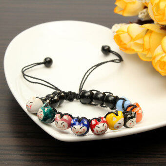 Harga Ceramic Cat Beads Charm Lucky Bracelets For Fortune Money Health Adjustable