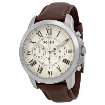 Harga Fossil FS4735 Grant Chronograph Dial Brown Leather Men's Watch
