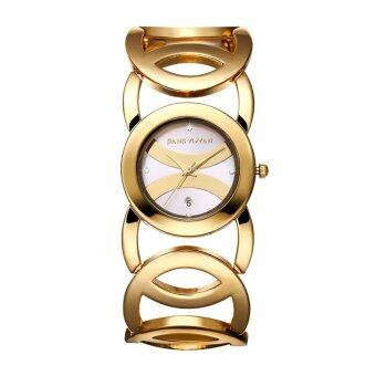 Harga JIANGYUYAN Bracelet Watches Brand Luxury Women Watch Full Alloy Quartz Watch Ladies Hour With Date 380804 MZNCL