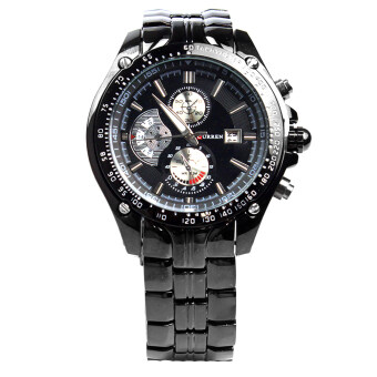 Harga CURREN Men's Stainless Steel Strap Watch (Black)