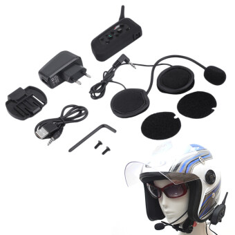 Harga VNETPHONE V6 1200m Bluetooth Intercom for Motorcycle Helmet Headset Interphone