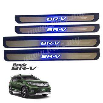 Harga Honda BRV BR-V Plug and Play Side Steel Plate/Door Side Step With Led Blue