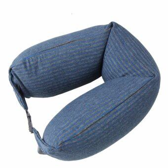 Harga MUJI Well-Fitted (Microbead) Neck Cushion Melang Blue x Gray