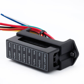 Harga 8 Way DC32V Circuit Car Trailer Auto Blade Fuse Box Block Holder ATC ATO 2-input 8-ouput Wire