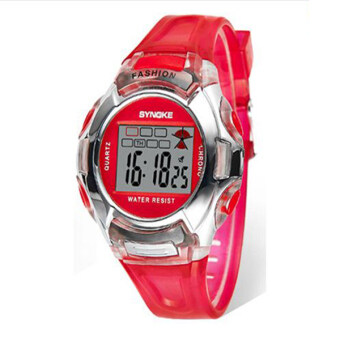 Harga Synoke 99329 Student Electronic Watch Digital Wristwatch Night Light Waterproof Sport Watch (Red)