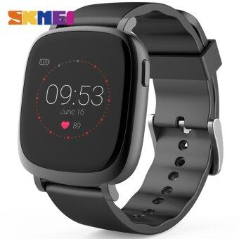 Harga 2017 NEW SKMEI Men Women Smart Bracelet Photography Music Control Heart Rate Monitor Clocks Distance Record Digital Sports Watches L42A