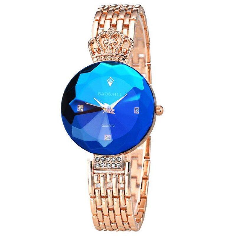 [Imported] Quartz Rose Gold Wrist High Class Trendy Fancy Watch - Blue Malaysia