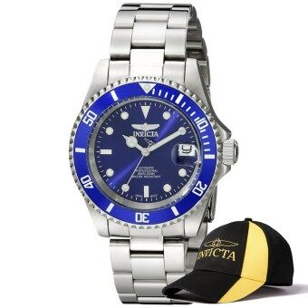 Harga Invicta Pro Diver Men 40mm Case Silver Stainless Steel Strap BlueDial Automatic Watch 9094OB