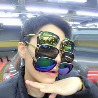 IRON MAN 3 Top Designed Matsuda TONY Steampunk Sunglass Men Mirrored Designer Brand Glass Vintage Sports Sun glass (BLACK PINK) - 4