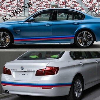 Harga JinGle 1 M Colored BMW M Striped Vinyl Car Sticker Decal Body ForCar