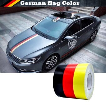 Harga JinGle 1 M Colored Germany Flag Striped Vinyl Car Sticker DecalBody For Car